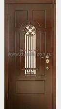Стальная дверь с МДФ и ковкой ДК 09