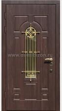 Стальная дверь с МДФ и ковкой ДК 10