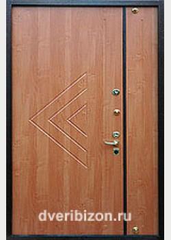 Стальная дверь с ГЛ двухстворчатая