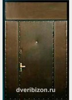 Тамбурная дверь с тремя вставками